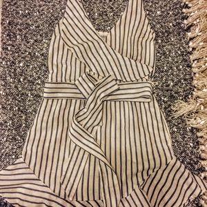 Guess Gianna Striped Ruffle Dress